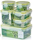 Zoë&Mii auslaufsichere Lebensmittelbehälter aus BPA-freiem Plastik - Hochwertige und luftdichte Meal Prep Boxen - 14-Teiliges Set (7 Boxen + 7 Deckel) als Vorratsdosen Snackbox Brotdose oder Lunchbox